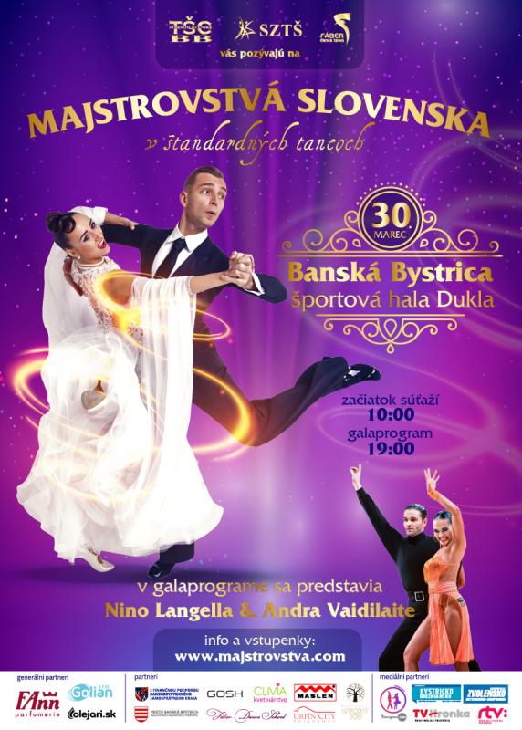 Majstrovstvá SR 2019 v štandardných tancoch